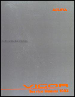 1993 Acura Vigor Repair Manual Original