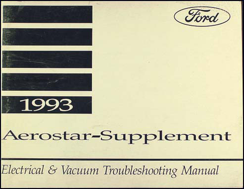 1993 Ford Aerostar Electrical Troubleshooting Manual Original Supp.
