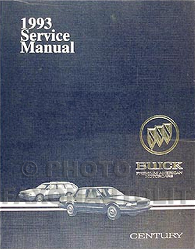 1993 Buick Century Repair Manual Original