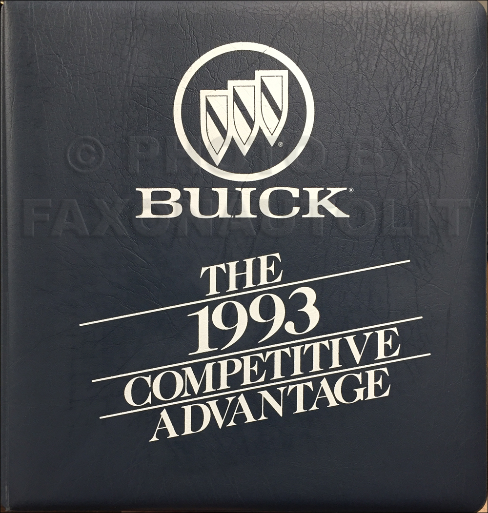 1993 Buick Competitive Comparison Dealer Album Original