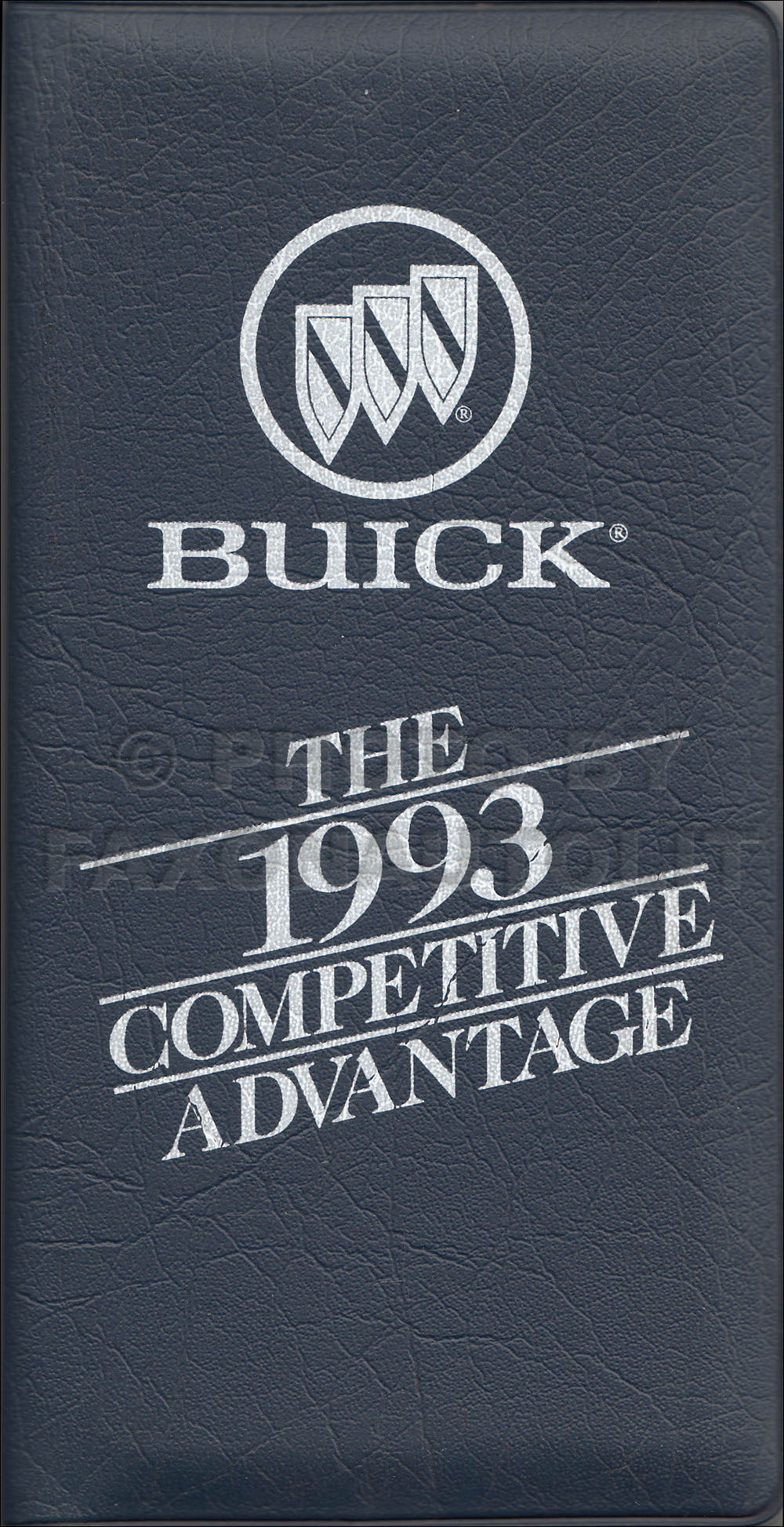 1993 Buick Competitive Comparison Pocket Portfiolio Original