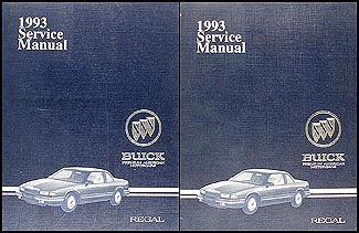 1993 Buick Regal Shop Manual Original 2 Volume Set