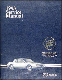 1993 Buick Riviera Shop Manual Original