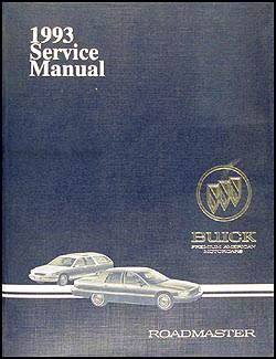 1993 Buick Roadmaster Shop Manual Original