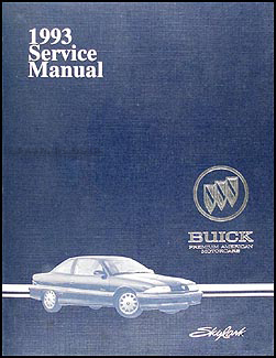 1993 Buick Skylark Shop Manual Original