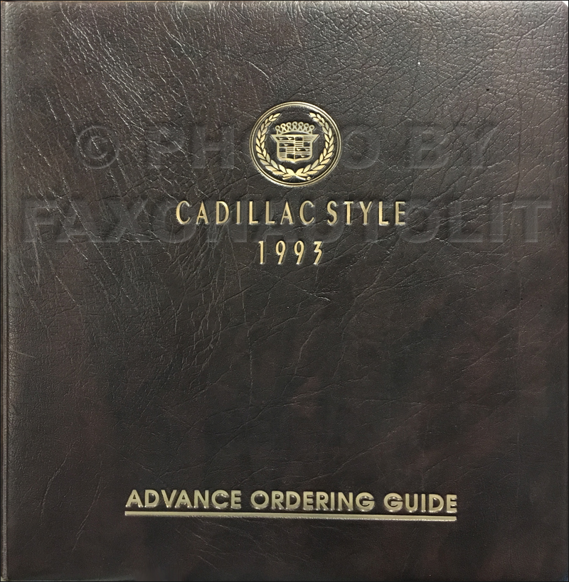 1993 Cadillac Advance Ordering Guige Original Dealer Album
