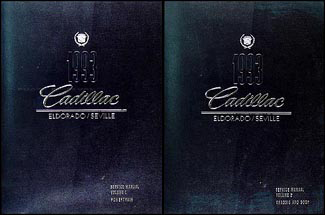 1993 Cadillac Eldorado & Seville Repair Manual Original 2 Volume Set
