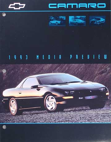 1993 Chevy Camaro RARE Press Kit Portfolio with photos Original