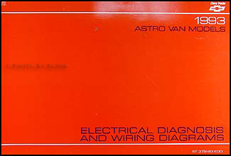 1993 Chevy Astro Van Wiring Diagram Manual Original