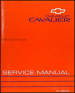 1993 Chevy Cavalier Repair Manual Original