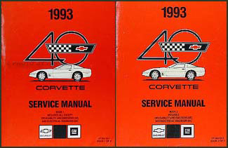 1993 Corvette Shop Manual Original