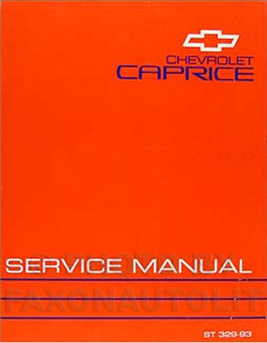 1993 Chevy Caprice Classic Repair Manual Original
