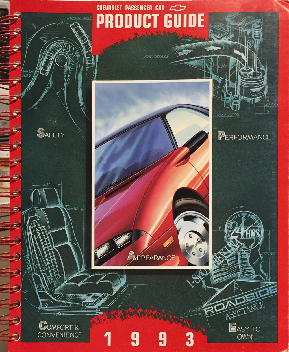 1993 Chevrolet Car Color & Upholstery Dealer Album/Data Book Original