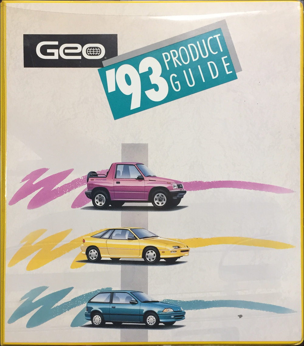 1993 Geo Data Book Original Canadian