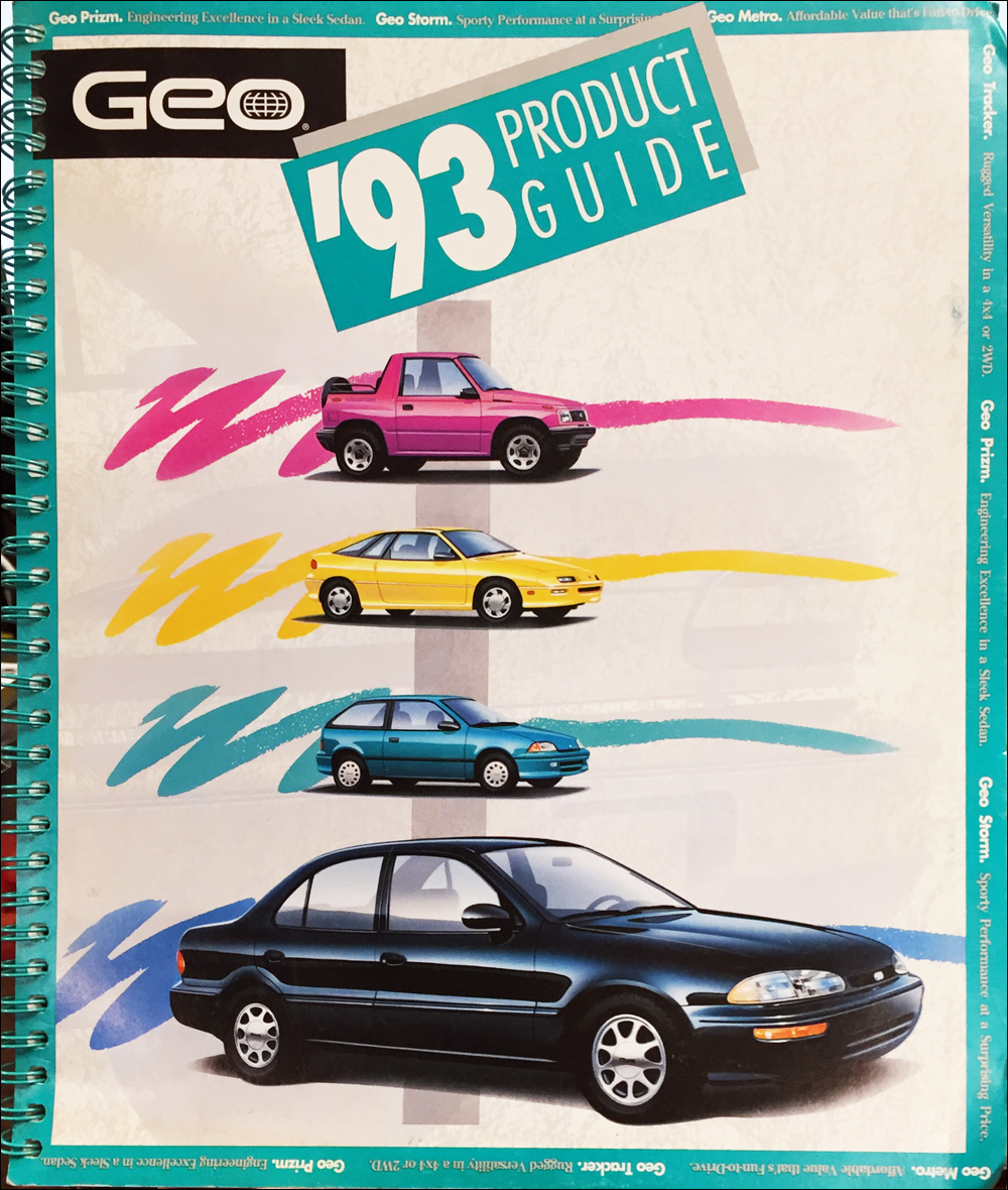 1993 Geo Metro Repair Shop Manual Original 1992 Xfi 10 Engine Diagram Color Upholstery Dealer Album Data Book