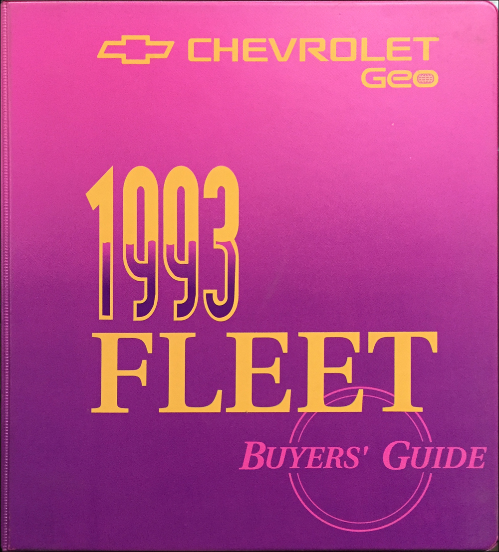 1993 Chevrolet Fleet Buyer's Guide Dealer Album Original