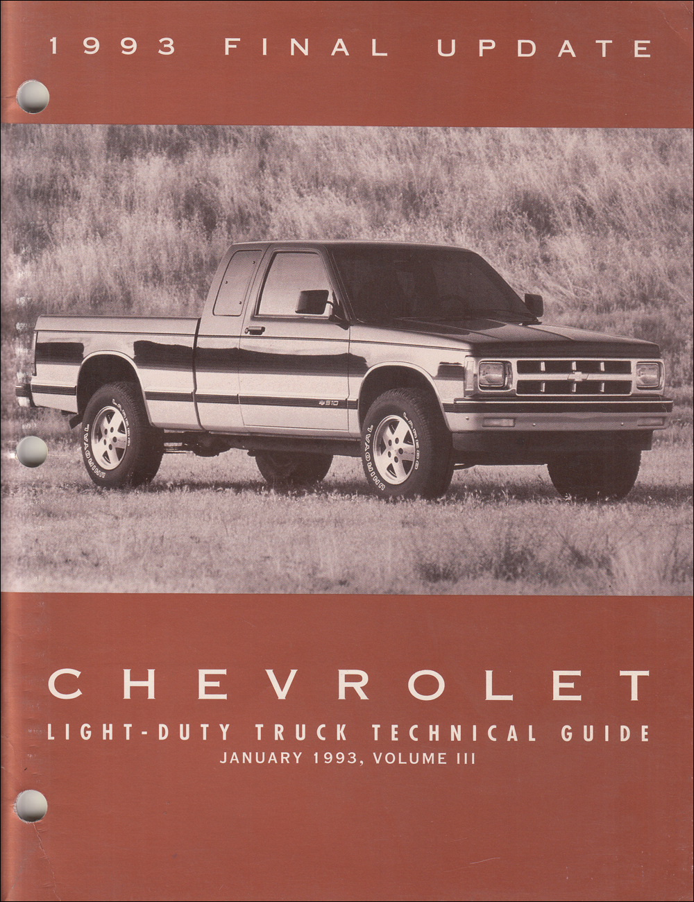 1993 Chevrolet Truck Technical Guide Dealer Album Original Final Issue