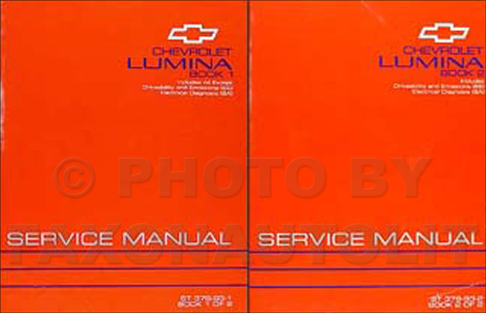1993 Chevy Lumina Car Repair Manual Original 2 Volume Set