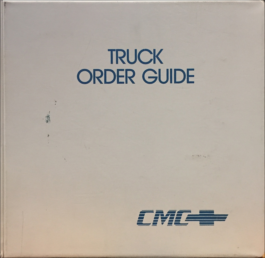 1993 Chevrolet Truck Order Guide Dealer Album Original