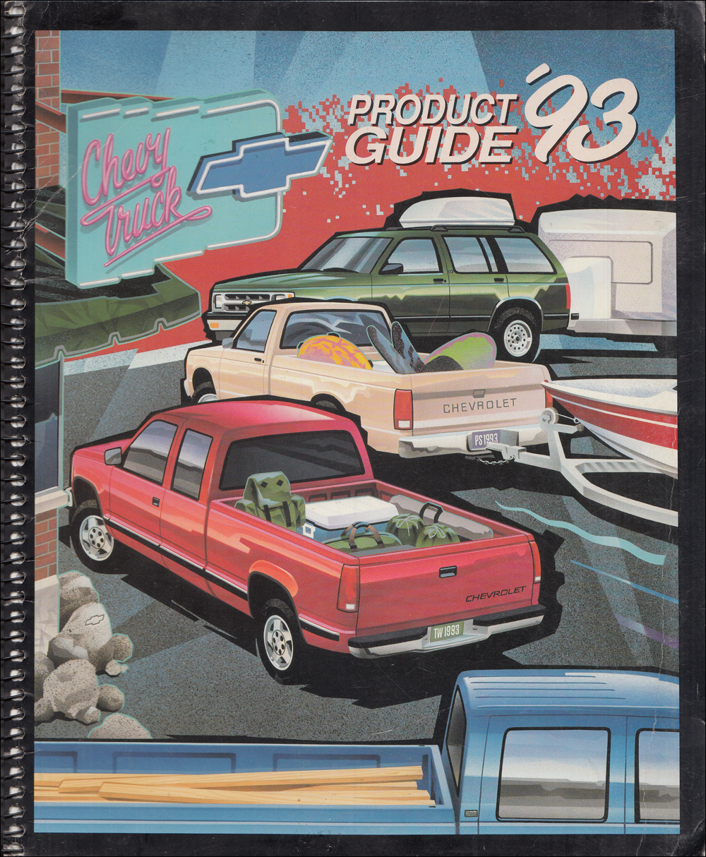 1993 Chevrolet Truck Product Guide Sales Training Dealer Album Original