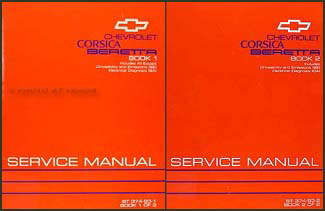 1993 Chevy Corsica & Beretta Repair Manual Original 2 Volume Set