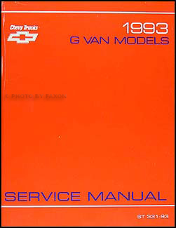1993 Chevrolet G Van Repair Manual Original