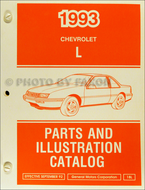 1993 Chevrolet Corsica and Beretta Parts Book Original
