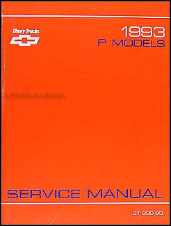 1993 Chevrolet P Motorhome & Forward Control Shop Manual Original