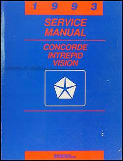 1993 Chrysler Concorde, Dodge Intrepid, Eagle Vision Repair Shop Manual