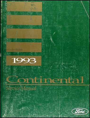 1993 Lincoln Continental Shop Manual Original