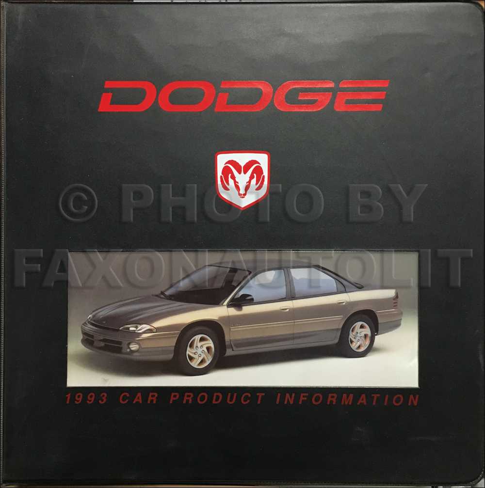 1993 Dodge Car Color & Upholstery Album and Data Book Original