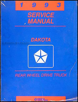 1993 Dodge Dakota Repair Manual Original