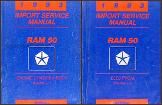 1993 Dodge Ram 50 Truck Shop Manual Original 2 Volume Set