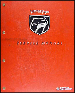 1993 Viper RT/10 Repair Manual Original