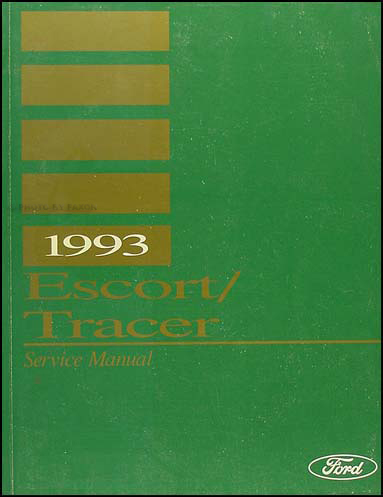 1993 Ford Escort Mercury Tracer Shop Manual Original
