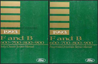 1993 Ford F & B 600 through 900 Medium/Heavy Truck Repair Shop Manual Set