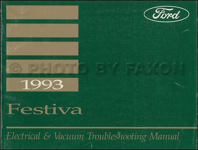 1993 Ford Festiva Original Electrical & Vacuum Troubleshooting Manual
