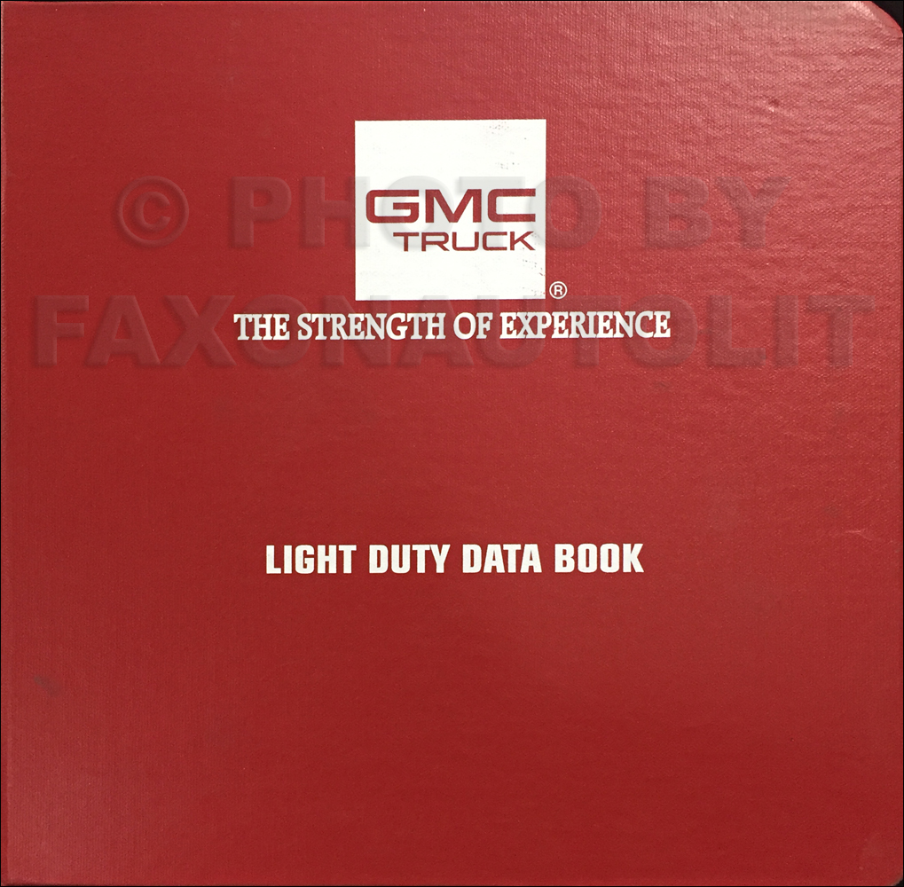 1993 GMC Light Duty Data Book Original