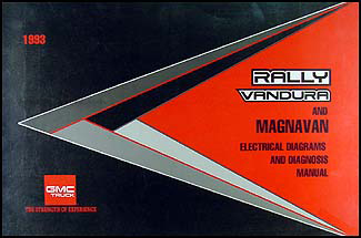 1993 GMC G Van/Vandura/Rally  Wiring Diagram Manual Original