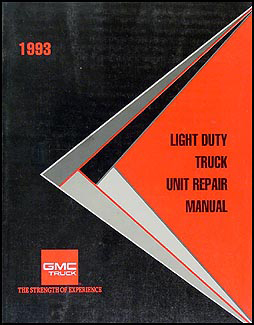 1993 GMC 1/2, 3/4, & 1 ton Truck Overhaul Manual Original