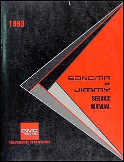 1993 GMC S-15 Pickup & Jimmy Shop Manual Original