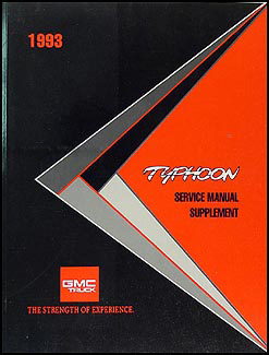1993 GMC Typhoon Original Service Manual Supplement