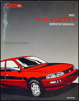 1993 Geo Prizm Repair Manual Original