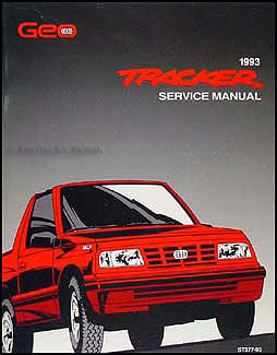 1993 Geo Tracker Repair Manual Original
