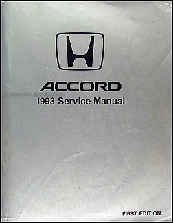 1993 Honda Accord Repair Manual Original