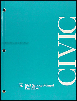 1993 Honda Civic Repair Manual Original