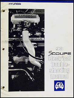 1993 Hyundai Scoupe Electrical Troubleshooting Manual Original