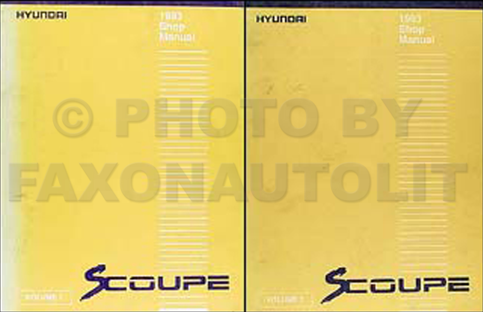 1993 Hyundai Scoupe Shop Manual Original 2 Volume Set