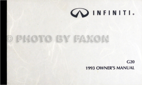 1993 Infiniti G20 Owner's Manual Original