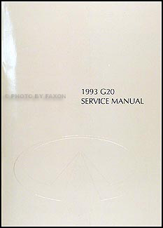 1993 Infiniti G20 Repair Manual Original